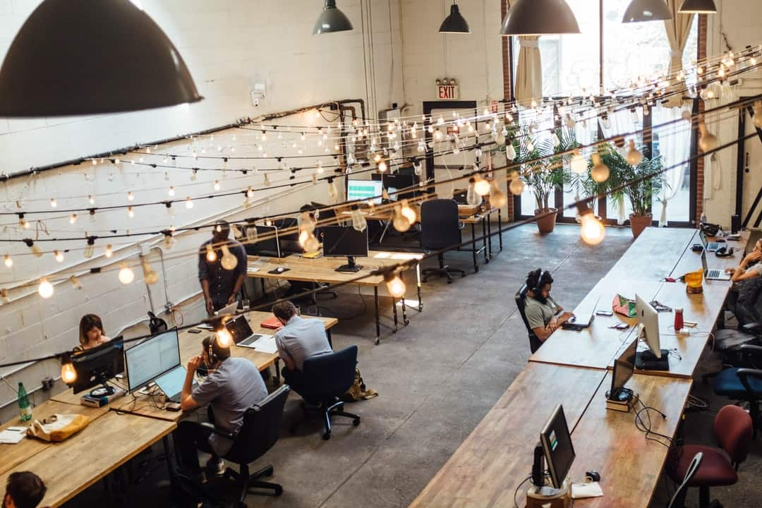 Freelancers at coworking space
